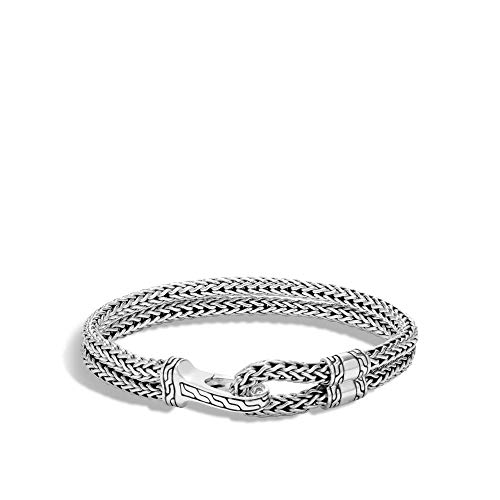 John Hardy Men's Classic Chain Silver Hook Station Bracelet 9mm Large ()