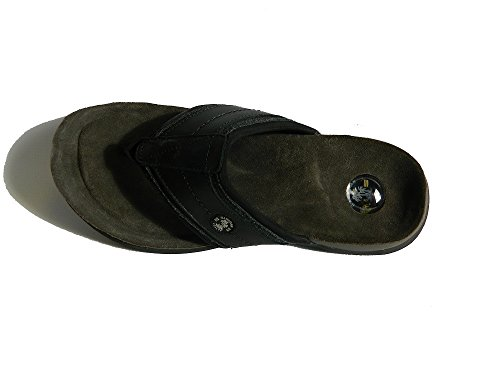 Sandali Hawaiian New! Sandali Convertibili Ultra-comfort In Pelle Scamosciata Con Magneti Nascosti E Topper Removibile Gratis! Camoscio Nero