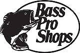 NBFU DECALS Logo BASS PRO Shops (Black) (Set of 2) Premium Waterproof Vinyl Decal Stickers for Laptop Phone Accessory Helmet CAR Window Bumper Mug Tuber Cup Door Wall Decoration