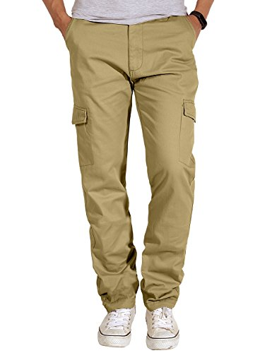 Match Men's Casual Cargo Pants Outdoors Work Wear(30, 6048 Light Khaki)