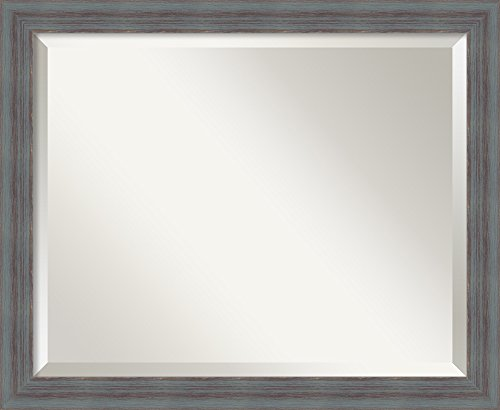 Wall Mirror Medium, Dixie Grey Rustic Wood Outer Size 22 x 18