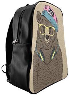 Cartoon Hip Hop Tide Bear Skateboard College Bags For Women School Bags College Girls Bag Print Zipper Students Unisex Adult Teens Gift