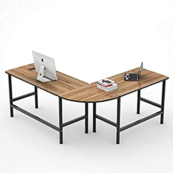 Amazon Com Tribesigns 67 Inches Large Reversible L Shaped Desk Modern Corner Computer Desk Pc