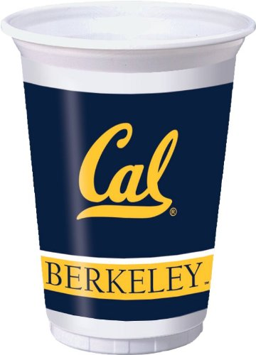 Creative Converting UC Berkeley Golden Bears 20 oz. Plastic Cups, 8-Count