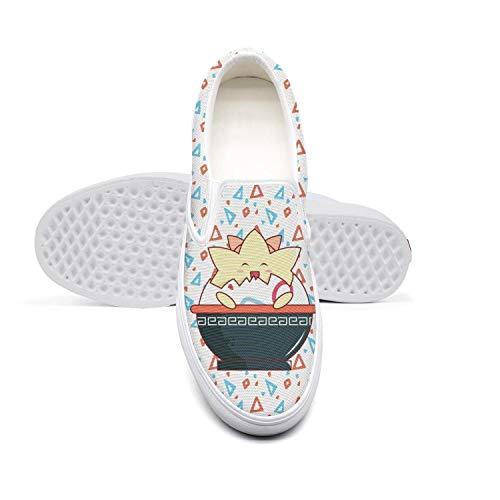 Women's Canvas Loafer Game Symbol Casual Sneaker Slip-on Flat Walking Shoe