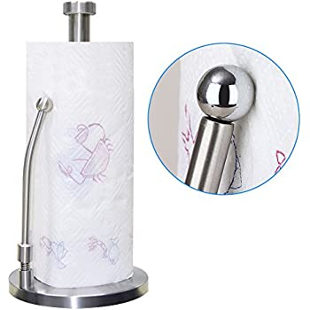 Paper Towel Holder, Durable Rust-proof Stainless Steel Standing Recyclable Paper towel Stander(US)
