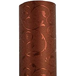 Burgundy Arabesque Contact Paper Vintage Curly Grass Self Adhesive Embossed Wallpaper Vinyl Peel Stick