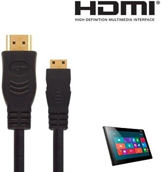 Lenovo Thinkpad tablet 2, Yoga Mini HDMI a HDMI TV Cable de 3 M Oro Cable