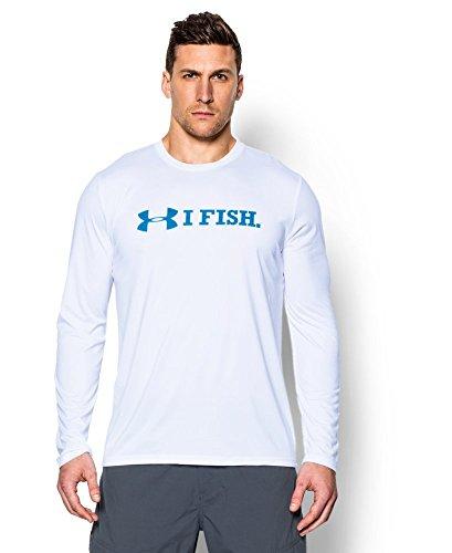 Under Armour Men's UA I Fish Long Sleeve T-Shirt Large White