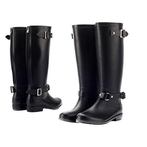 zipper rain boots - 5