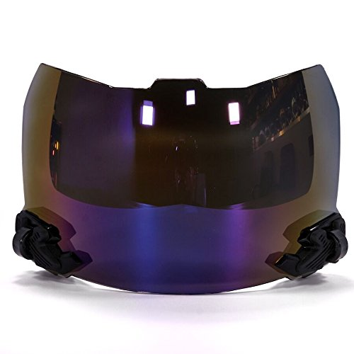 SHOC Visor 2.0 Lightning Grape Ape Iridium for Football
