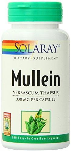 Solaray Mullein Leaves Capsules, 330 mg, 100 Count