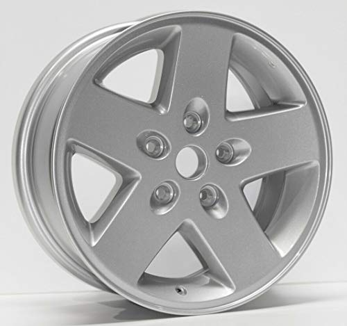 Partsynergy Replacement For New Replica Aluminum Alloy Wheel Rim 17 Inch Fits 07-18 Jeep Wrangler 5 Spokes - Wrangler Rim New Replica