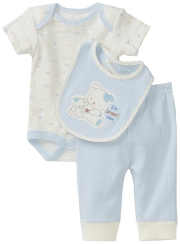 Rene Rofe Baby Newborn Boys I'm Brand New 3 Piece Pant Set