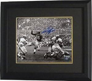Athlon CTBL-BB12947 Frank Gifford Signed New York Giants 16 x 20 Vintage B&W Photo - HOF 77 Custom Framed