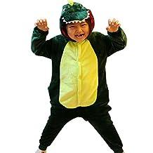 iSZEYU Dinosaur Kids Onesie Pajamas Halloween Christmas Costumes Green Pink