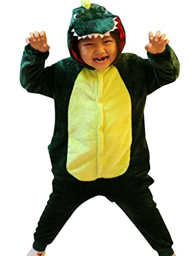 [Dinosaur Toddlers Animal Onesie Teenagers Role Play Dress Up Pajamas Sleepwear] (Costume Homme Deguisement)