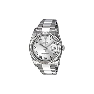 Best Epic Trends 41Sz2mfcVBL._SS300_ Rolex Perpetual Datejust Rhodium Dial Stainless Steel 18kt White Gold Mens Watch 116234RRO