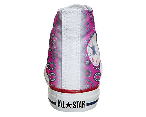 Converse Customized Adulte - chaussures coutume (produit artisanal) Hot Pink Paysley