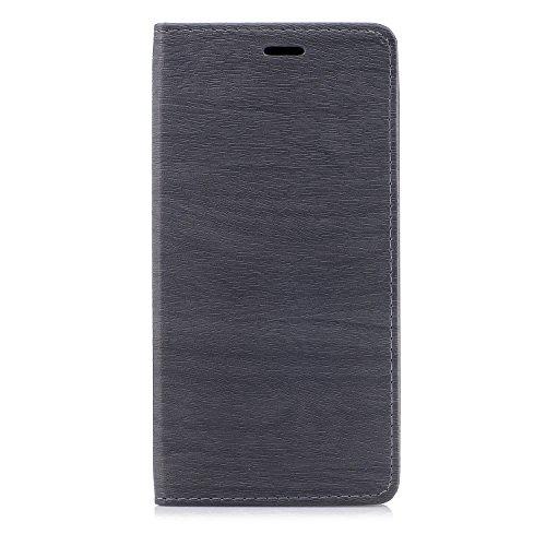 Funda Xiaomi Mi Max 2, CaseLover Piel PU Flip Folio Carcasa para Xiaomi Mi Max 2 con TPU Silicona Case Cover Interna Estilo Libro Cuero Tapa Cierre Magnético, Función de Soporte, Billetera y Tarjeta R Gris