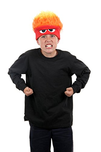 [Elope Disney's Inside Out Anger Hat] (Flame Hair Costume)