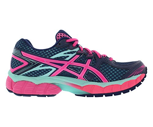 Asics Tiger Flux Running Womens Shoes Size Medievale Blu / Nickout Rosa / Aqua