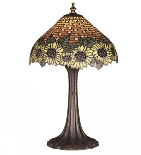 (18.5 Inch H Wicker Sunflower Accent Lamp Table Lamps)