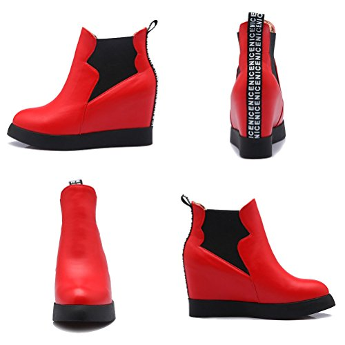 Chelsea 36 Red Femme Boots 5 EU Rouge HiTime qBa5n