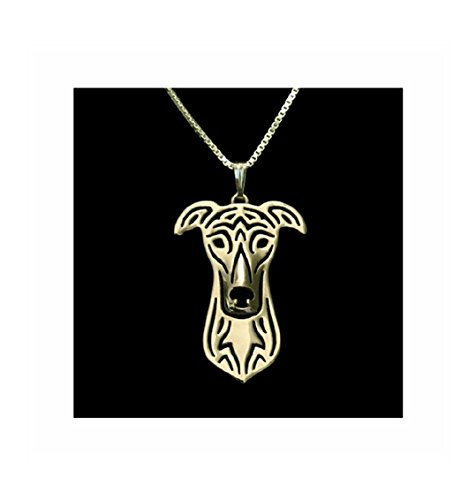 - Greyhound Necklace Gold-Tone