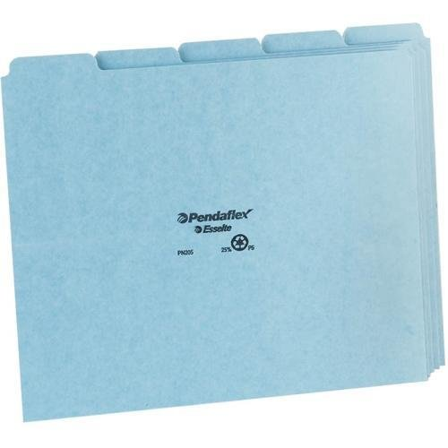 PFXPN205 - Pendaflex Blank Self Tab Pressboard File Guides Pressboard Self Tab File Guides