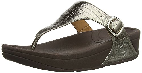 FitFlop Women's The Skinny Flip Flop, Bronze, 5 M US -