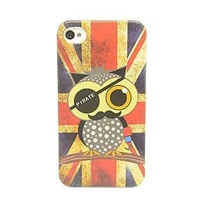 Lindo M.R. Pattern Owl IMD caso TPU Craft para el iPhone 4/4S