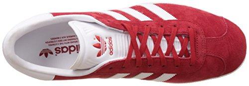 adidas Gazelle, Zapatillas de Deporte Unisex Adulto Rojo (Scarlet/Footwear White/Gold Metall)