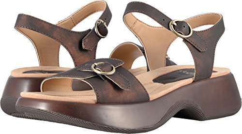 Dansko Women's Lynnie Sandal, Dark Bronze Metallic Leather, 39 M EU (8.5-9 US)