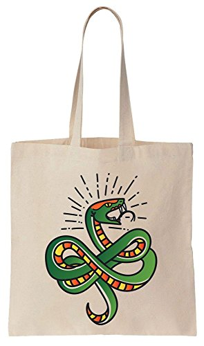 You Snake Long Tote ready Canvas Cotton Bag To And IS Green Beautiful Bite tHqUAw8H