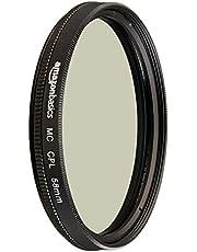 AmazonBasics Circular Polarizer Camera Photography Lens - 58 mm
