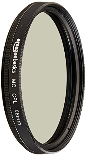 AmazonBasics Circular Polarizer Camera Photography Lens - 58 mm from AmazonBasics