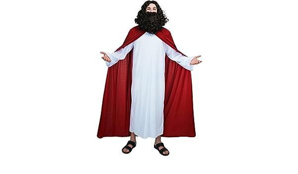 SEA HARE Disfraz Religioso de Jesús Adulto para Hombre: Amazon.es ...