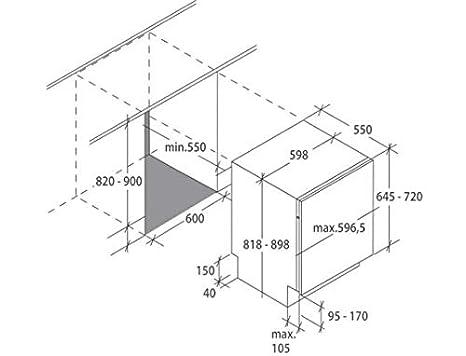 Candy CDIN2D520PB - Lavavajillas completo integrable, 60 cm, 15 ...