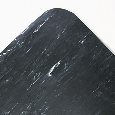 Cushion-Step Surface Mat, 36 x 60, Marbleized Rubber, Black, Sold as 1 ()