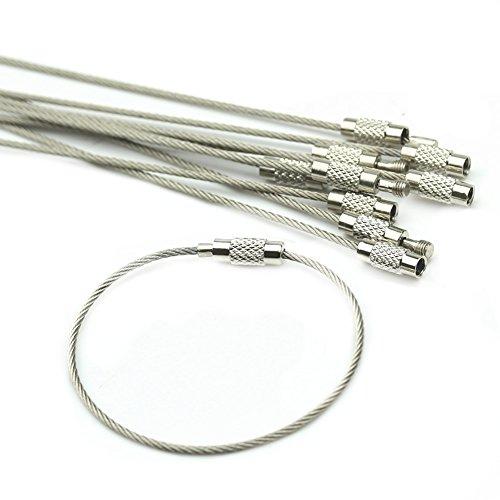 HeroNeo® 10 Piezas Metal Cierres Giratorios Plata Lanyard Snap Hook Corchetes de Langosta Llaveros para Fabricación de Joyas Correas para Mascotas ...