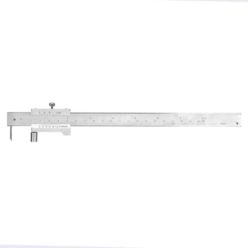 0-200mm Vernier Caliper Caliper Ruler Vernier Micrometer Portable Stainless Steel Measuring Caliper Tool with Scriber Caliper