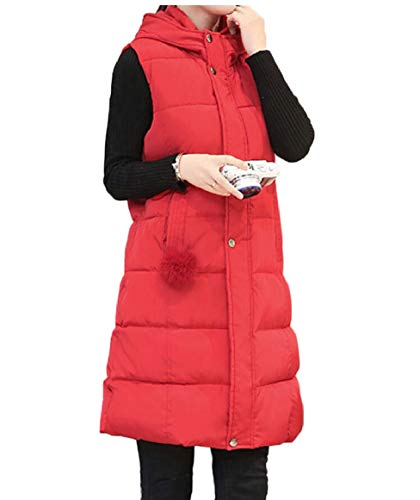 Length Jacket Quilted security Mid 2 Vest Womens Down Puffer Hood Winter wZ4zYqw