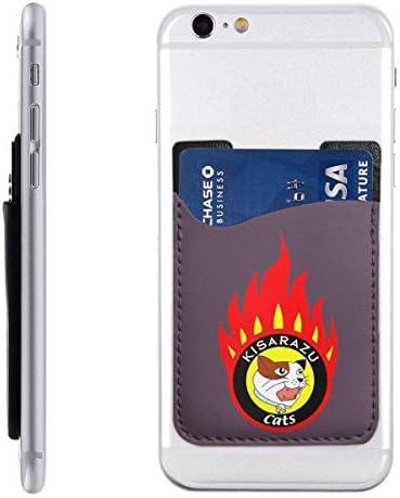 背面貼り付けカードポケット 木更津キャッツアイ 貼るタイプ カードケース スマホステッカーポケット PUレザー 全機種対応 スマホカードケース スマホ背面カードホルダー 9*6.2cm