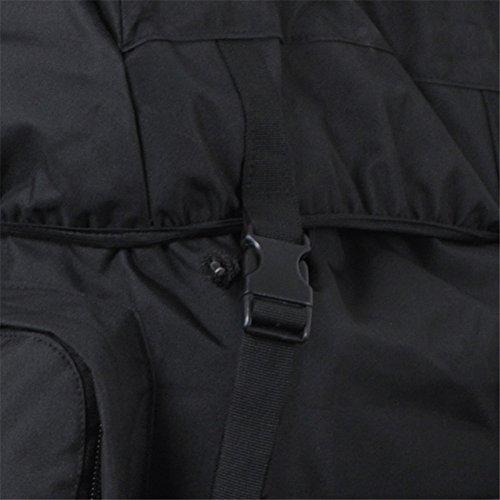 aofit 100L gran capacidad mochila Militar ejército combate táctico mochila senderismo mochila deportes al aire libre mochila multifunción mochila con bolsa de marco de aluminio en forma de U viaje Cam negro