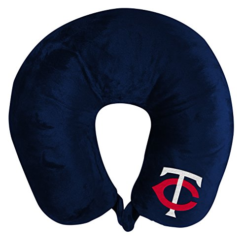 The Northwest Company MLB Minnesota Twins Applique Neck Pillow, Travel Pillow, One Size