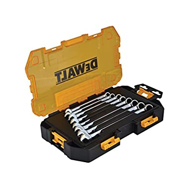 DEWALT DWMT73810 Tough Box Tool Kit Metric Combination Wrench Set, 8 Piece