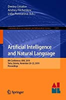 Artificial Intelligence and Natural Language: 8th Conference Front Cover