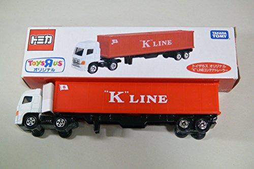 """K` LINEコンテナトレーラー(ホワイト×レッド) 「トイザらスオリジナル トミカ」"