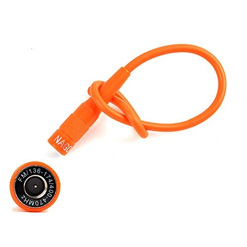 30MHz SMA-Male High Gain Flexible Soft Radio Antenna 15'' fit YAESU VERTAX Icom Wounxun Walkie Talkies Orange ()